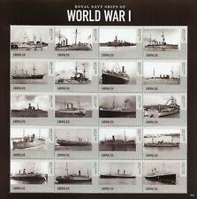 More details for liberia 2015 mnh wwi ww1 royal navy ships world war i 20v m/s i military stamps