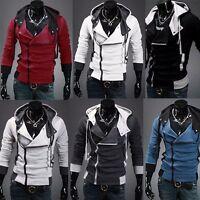 Men Casual Slim Fit Hooded Coat Jacket Tops Sweatshirt Overcoat Outwear M-6XL