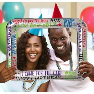 OVER THE HILL Milestone Selfies INFLATABLE FRAME ~ Adult Birthday Party Supplies
