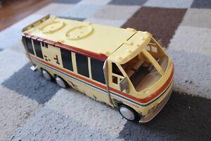 "BEN 10 ALIEN LABORATORY VAN 12"" BUS Bandai 2006 Toy Coach Car USED Missing Parts"