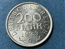 200 Mark 1923 G Alu Kursmünze Weimarer Republik Notgeld - s Bild
