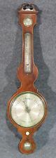 Antique Mahogany Signed Truconi Liverpool English Barometer Mid 1800s