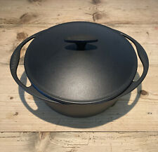 Genuine Le Creuset Cast Iron Satin Black 26cm Round Casserole Dish Pot Pan & Lid
