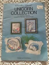 UNICORN COLLECTION counted cross stitch/needlepoint BOOKLET candamar designs 81