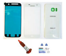 White Front Back glass lens cover replacement LCD Repair Kit Fit Galaxy S7 G930