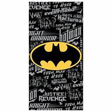 BATMAN GRAFFITI BEACH TOWEL 100% COTTON BLACK KIDS 140cm x 70cm
