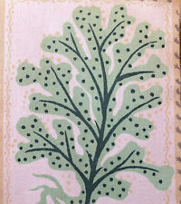 1950s VINTAGE COTTON FABRIC. LOVELY SEAWEED AND STARFISH DESIGN - MID-WEIGHT