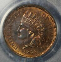 1879 INDIAN HEAD CENT COPPER COLLECTOR COIN PCGS MS 63 RB FREE SHIPPING