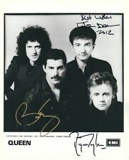 QUEEN SIGNED 8x10 PHOTO - BRIAN MAY ROGER TAYLOR JOHN DEACON - UACC RD AUTOGRAPH