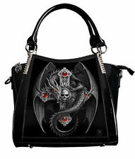 Anne Stokes 3d Large Hand Bag Black PVC Goth Dragon Cross 'gothic Guardian'