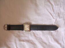 orologio donna quadrato cinturino marrone in pelle