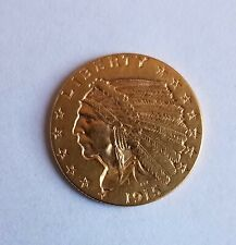 New Listing1915 Gold Us $2 1/2 Dollar Indian Head Quarter Eagle Coin