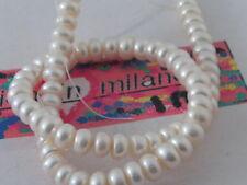 1 filo di perle bianche schiacciate di 9/10 x 6 mm lungo 38 cm