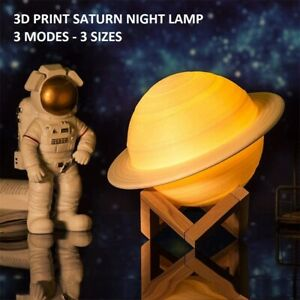 3D Print Rechargeable Saturn Night Lamp With Touch Control