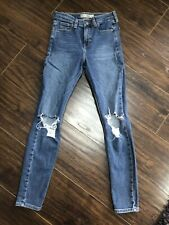 Topshop Ripped Blue Jeans Size W26/L32 In Good Condition