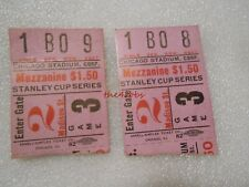 Pair of Vintage 1940s Chicago Blackhawks Stanley Cup Series Ticket Stubs