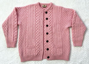 Vintage Cardigan  Knit Cardigan  Retro Cardigan  White Cardigan  S Small Cardigan  M Medium Sweater