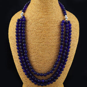 590.00 Cts Earth Mined Purple Amethyst Round Shape Beads Necklace JK 04E174