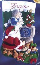 "Bucilla COMPUTER SANTA ""WWW.COM"" Felt Christmas Stocking Kit 18"" OOP RARE 83954"