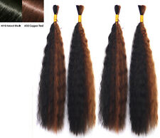 Synthetic Wet and Wavy Braiding Bulk Hair Extensions Many Colors 18in