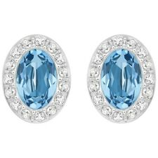 Swarovski Christie Oval Pierced Earrings with Blue crystals MIB 5166017