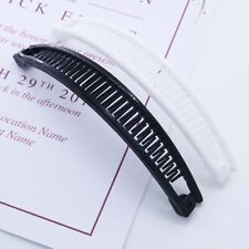 Fashion Hairpin Banana Shape Plain Hair Ponytail Holder Comb Clip Accessories