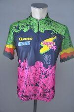 Gonso Super Cup 90s Rad Trikot cycling jersey Fahrrad vintage 90er Gr. L 54cm Y2