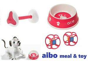 SONY aibo accessories Meal Bowl AIBONE Dice meal toy set AI Dog Robbot 3 item