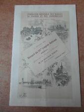 Beau MENU Banquet Blessés CONGRES MARSEILLE 1932 Dr RIBOT + Dessin original