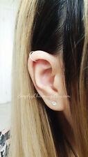 Simple Cartilage Hoop Earring - Seamless Hoop Silver Gold Helix Jewelry 18 Gauge