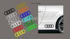 AUDI logo RINGS stickers decals X2  20CM X 7CM A1 A2 A3 A4 A5 A6 A7 A8 Q1 Q2 Q3