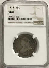 1825 Capped Bust Quarter NGC VG 8