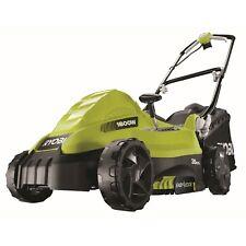 """RYOBI™ 1600W Electric Lawn Mower Lawnmower 14"""" Deck + Grass Catcher + 4YR WTY"""