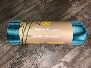 Hugger Mugger  Bamboo Yoga Towel 26x72 Teal Brand New Free Shipping