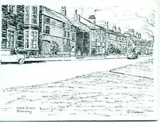 West Green Stokesley North Yorkshire 1970s R Bolsover sketch postcard