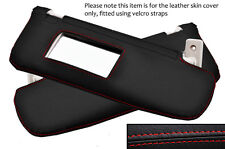 RED STITCH 2X SUN VISORS LEATHER COVERS FITS FIAT 500 & 500 ABARTH 2007-2013