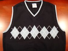 Gymboree Navy Argyle Sweater Vest - Size S 5/6 Excellent Condition