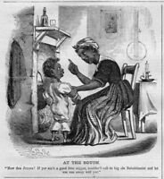 NEGRO MOTHER TALKING WITH HER CHILD ABOLITION 1860 HISTORY ARCHIVES ABOLITIONIST