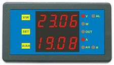 Programmable Digital Dual Display 90V 300A Combo Meter Voltage Amp Power Ah Hour