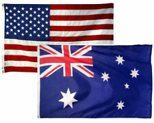 3x5 3'x5' Wholesale Combo Set USA American & Australia Australian 2 Flags Flag