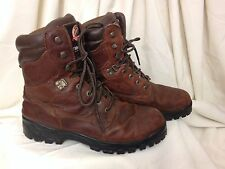 BRAHMA Men's Brown Lace Up Leather Upper Insulated Snow/Work Boots - Size US 11