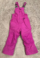 Lands End Girls Squall Snow Bibs Ski Pants Purple Grow A Longs Insulated Size 4