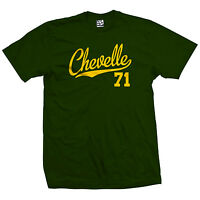 Chevelle 71 Script Tail Shirt - 1971 Classic Muscle Race Car - All Size & Colors