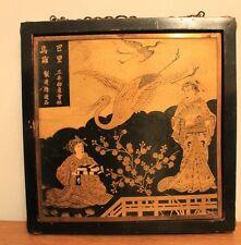 Ancien Miroir Japonais ancien décor de Geishas Japon, chine