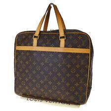Authentic LOUIS VUITTON Porte Document Pegase Hand Bag Monogram M53343 35EX658