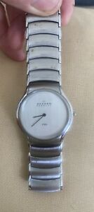 Skagen DENMARK / STEEL / HARDENED crystal/256LSXC/ VERY GOOD cond. Needs battery