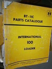IH International 100 chargeur loader : parts catalog 1970 abimé