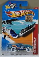 HOT WHEELS 2012 FACTORY SEALED `69 CHEVELLE THRILL RACERS - ICE V5515