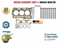 FOR VW POLO 1.2 + 12V AZQ BZG CGPB CGPA 2001-> HEAD GASKET SET + HEAD BOLTS KIT