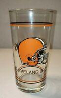 """Vintage NFL 1970's 6 1/4"""" Era Cleveland Browns Glass Super Hard to Find! #1703"""